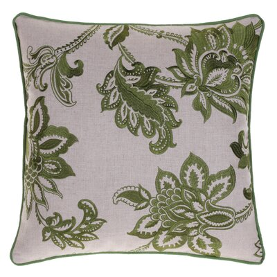 Flavien Embroidered French Country Throw Pillow Color: Moss