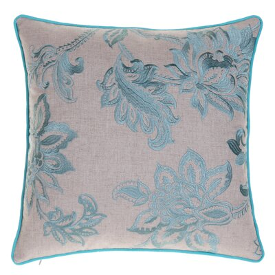 Flavien Embroidered French Country Throw Pillow Color: Harbor
