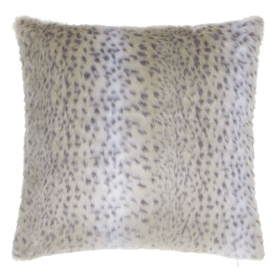 Snow Leopard Faux Fur Throw Pillow