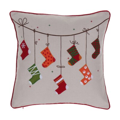 Broadlands Christmas Stocking Throw Pillow