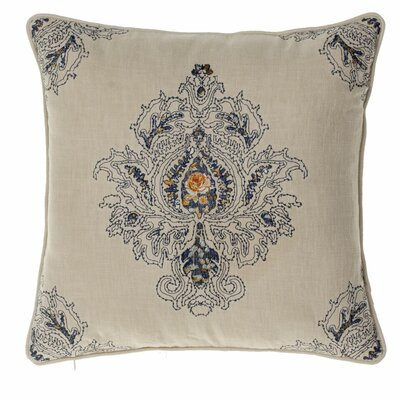 Allsop Royal Throw Pillow Color: Indigo/Curry