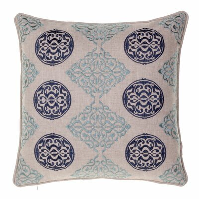 Dimmick Medallion Throw Pillow Color: Indigo / Harbor
