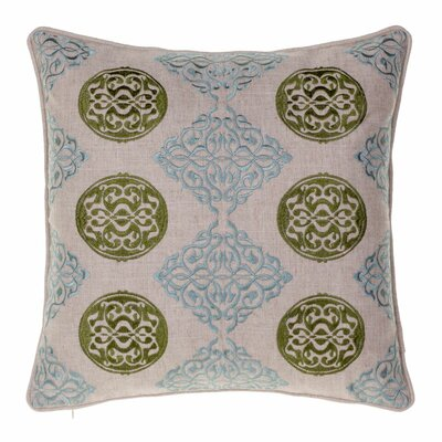 Medallion Throw Pillow Color: Moss / Harbor