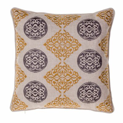 Medallion Throw Pillow Color: Curry / Iron
