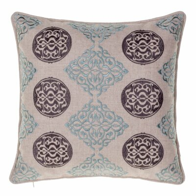 Medallion Throw Pillow Color: Harbor / Iron