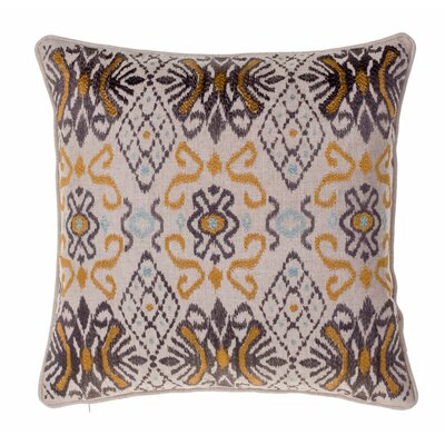 Ikat Throw Pillow Color: Curry/Iron/Harbor