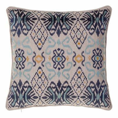 Ikat Throw Pillow Color: Indigo/Harbor/Curry
