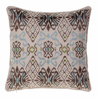 Glenside Ikat Throw Pillow Color: Chestnut/Harbor/Moss