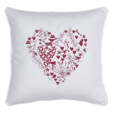 Love Is in the Air Cotton Throw Pillow Color: White