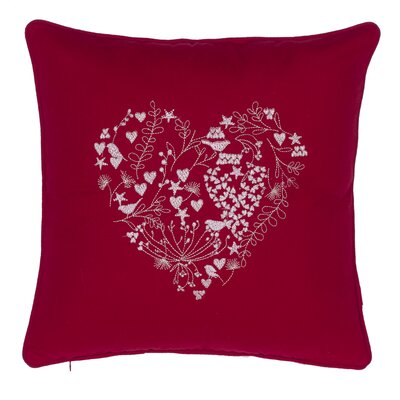 Love Is in the Air Cotton Throw Pillow Color: Red
