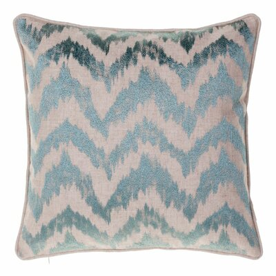 Blaisdel Watercolor Chevron Throw Pillow Color: Harbor