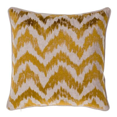 Blaisdel Watercolor Chevron Throw Pillow Color: Curry