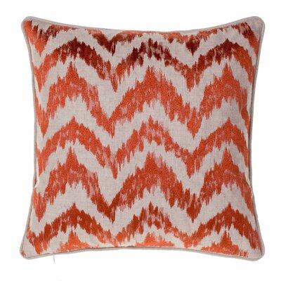 Blaisdel Watercolor Chevron Throw Pillow Color: Spice