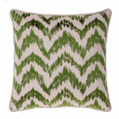 Blaisdel Watercolor Chevron Throw Pillow Color: Moss