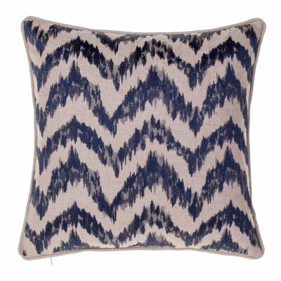 Blaisdel Watercolor Chevron Throw Pillow Color: Indigo