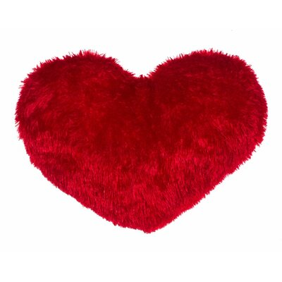 Heart Throw Pillow Color: Red