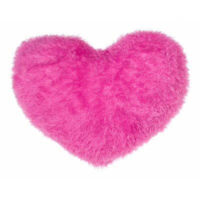 Heart Throw Pillow Color: Pink