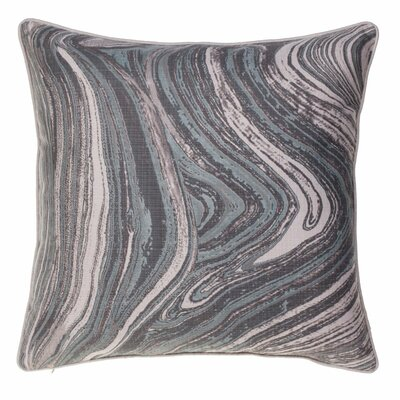 Watercolor Marble Throw Pillow Color: Harbor/Iron/Chestnut