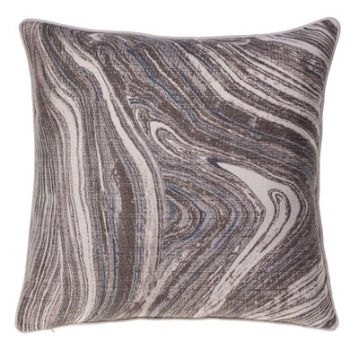 Watercolor Marble Throw Pillow Color: Indigo/Iron/Chestnut