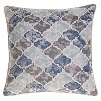 Moroccan Throw Pillow Color: Iron/Harbor/Indigo