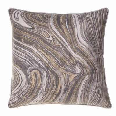 Dejean Marble Throw Pillow Color: Curry/Iron/Moss