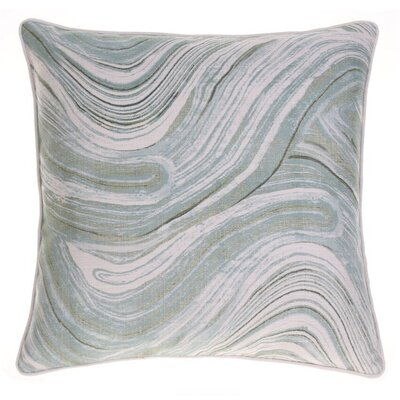 Watercolor Marble Throw Pillow Color: Moss/Harbor/Indigo