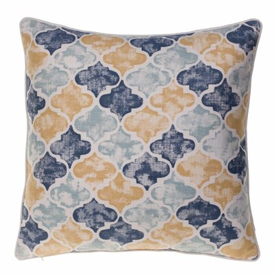 Moroccan Throw Pillow Color: Curry/Harbor/Indigo