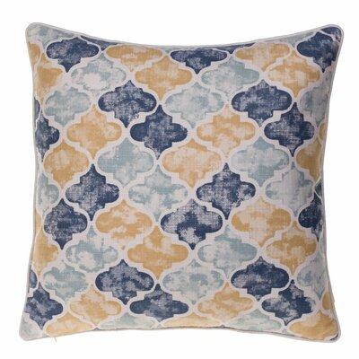 Moroccan Throw Pillow Color: Curry/Harbor/Indigo