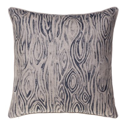 Woodgrain Throw Pillow Color: Indigo