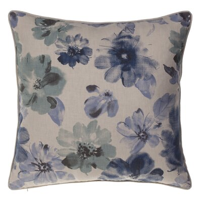 Flora Throw Pillow Color: Harbor/Indigo/Chestnut