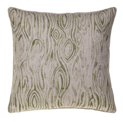 Woodgrain Throw Pillow Color: Moss