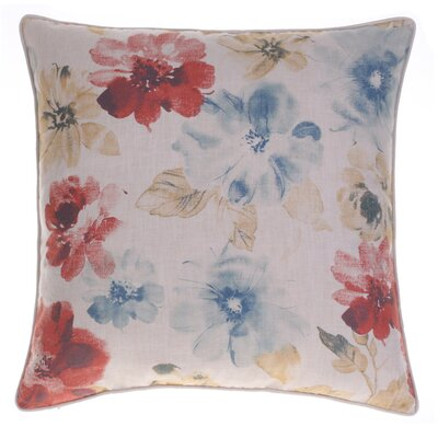 Flora Throw Pillow Color: Spice/Curry/Indigo