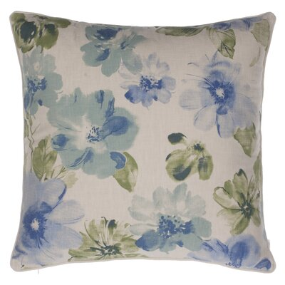 Flora Throw Pillow Color: Moss/Harbor/Indigo