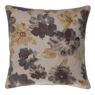 Flora Throw Pillow Color: Iron/Curry/Spice