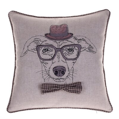 Distinguished Dog Pillow Louis Cranston Throw Pillow