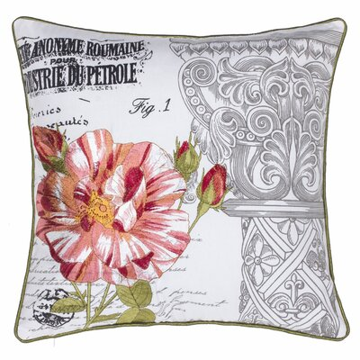 Regal Gardens Embroidered Cotton Throw Pillow