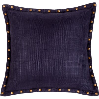 Herringbone Throw Pillow Color: Indigo