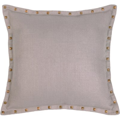 Herringbone Throw Pillow Color: Pewter