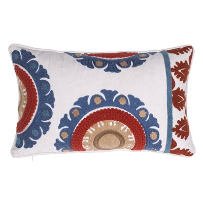 Folkloric Embroidered Lumbar Pillow