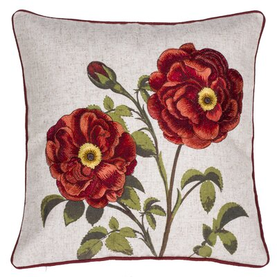 Perfect Petal Embroidered Throw Pillow