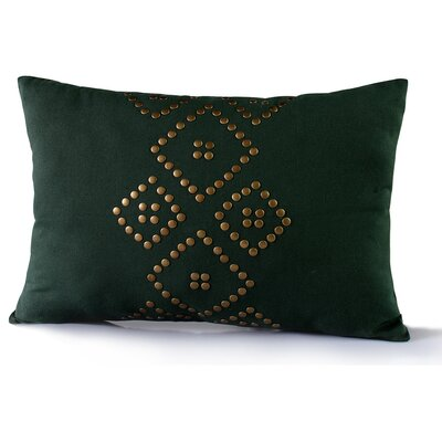 Tilton Cotton Lumbar Pillow Color: Army Green