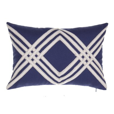 Rum Lumbar Pillow Color: Indigo