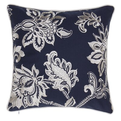 Solid French Throw Pillow Color: Indigo