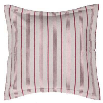 Burlap Stripe Euro Sham Color: Red