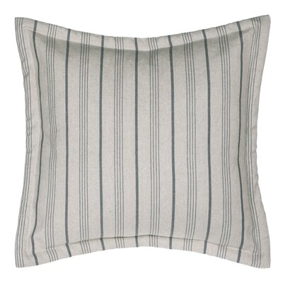 Burlap Stripe Euro Sham Color: Blue