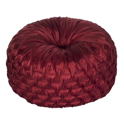 Ruched Throw Pillow Color: Red