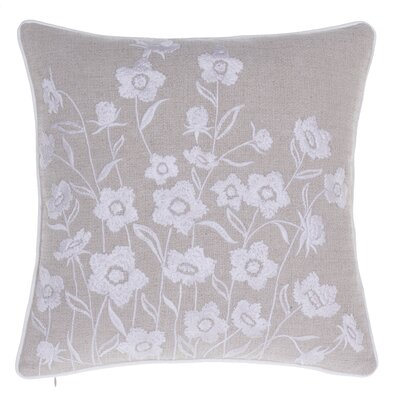 Blooming Springs Embroidered Throw Pillow Color: Natural