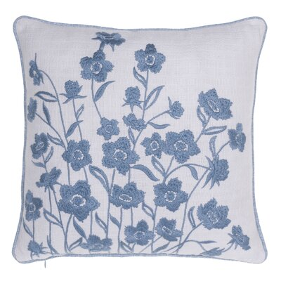 Blooming Springs Embroidered Throw Pillow Color: Harbor