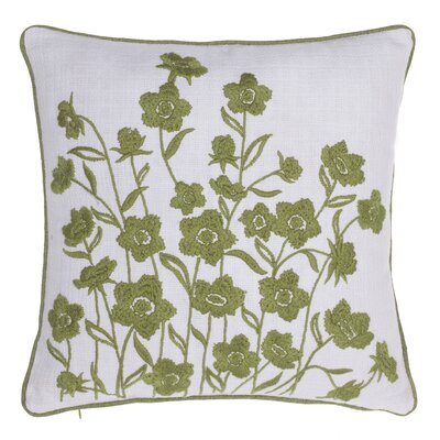 Blooming Springs Embroidered Throw Pillow Color: Moss