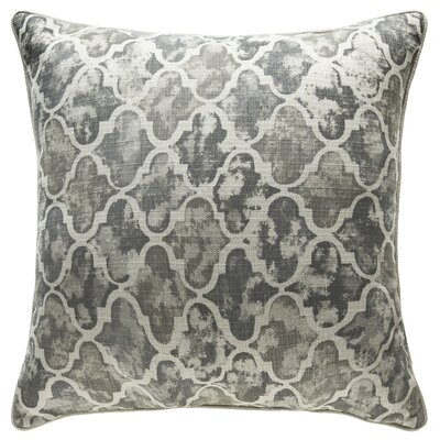 Moroccan Throw Pillow Color: Stone/Pewter/Iron